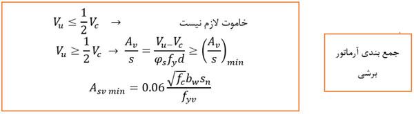 بندی آرماتور برشی - حداقل و حداکثر آرماتور در انواع المان های بتنی - 3