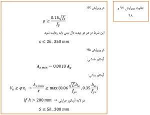 های حداقل و حداکثر آرماتور در دال ها - 3