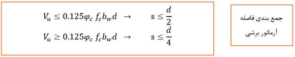 برش نهایی بتن - حداقل و حداکثر آرماتور در انواع المان های بتنی - 4