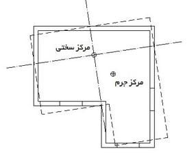 بین مرکز سختی و مرکز جرم و به وجود آمدن پیچش در ساختمان - 3