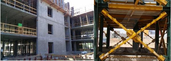 با دیوار برشی بتنی و یا بادبند در ساختمانها 1 - عوامل موثر در مقاومت سازه - 6