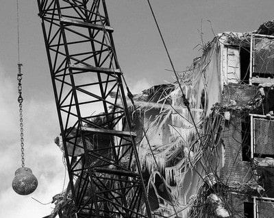 ساختمان با گوی 1 - عملیات تخریب ساختمان - 4