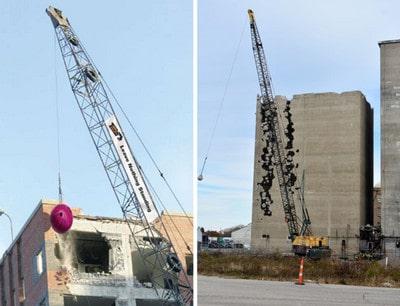 ساختمان های بتنی - عملیات تخریب ساختمان - 6