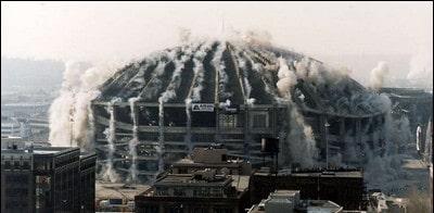های تخریب ساختمان تخریب به روش انفجار - عملیات تخریب ساختمان - 16